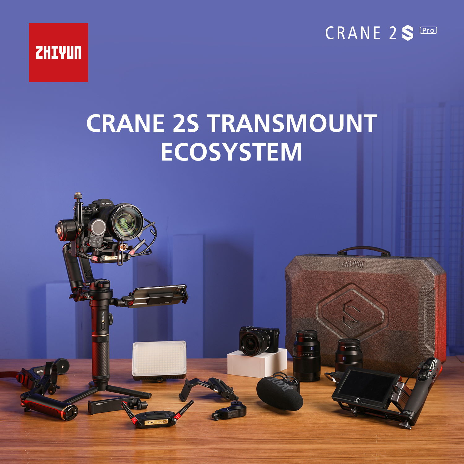 Enable images or just imagine how amazing the Zhiyun CRANE 2S Pro Package looks like..